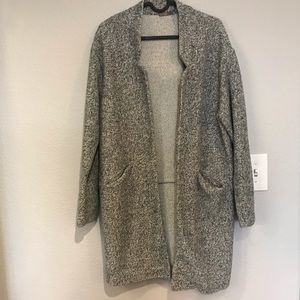 Gray and white speckled Zara Coat
